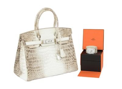 Hermès Birkin Bag 30cm Himalayan Diamond Encrusted & Matching Kelly GM Bracelet