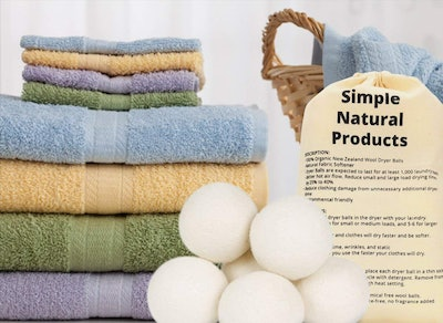 Simple Natural Products Wool Dryer Balls (Pack Of 6)