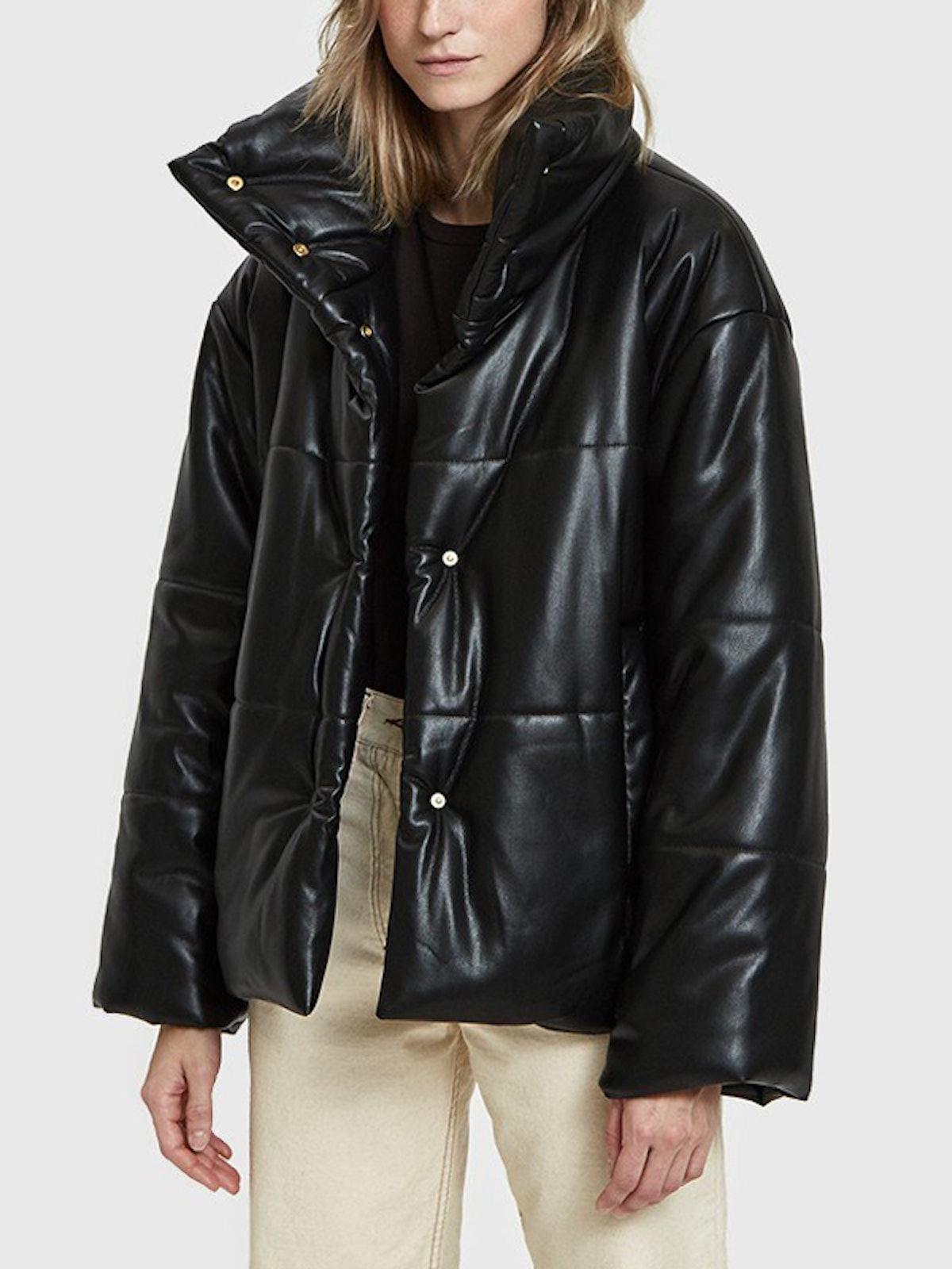 Hide Vegan Leather Puffer Coat