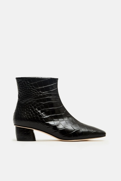 Matea Ankle Boot - Negro Croc