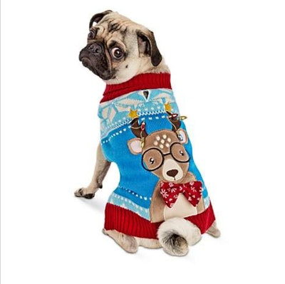 Holiday Tails Oh Deer Ugly Christmas Dog Sweater