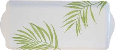 Bamboo Leaf Melamine Tidbit Rectangle Serving Platter