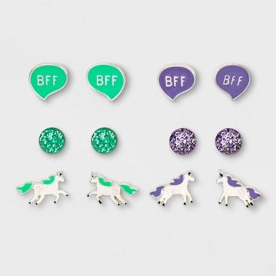 Girls' Unicorn BFF Earrings