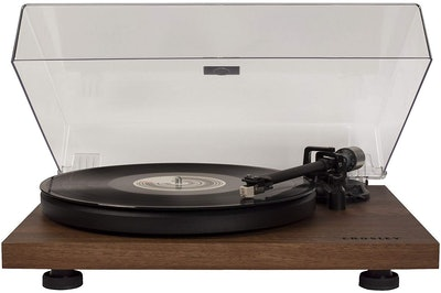 Walnut Turntable With Built-In Preamp And Adjustable Tone Arm