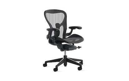 Aeron Chair, Graphite / Graphite, Large, Standard