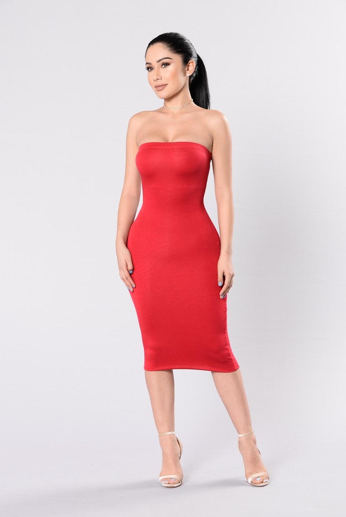Anna Dress - Red