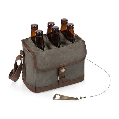 6-Bottle Beer Caddy With Integrated Bottle Opener