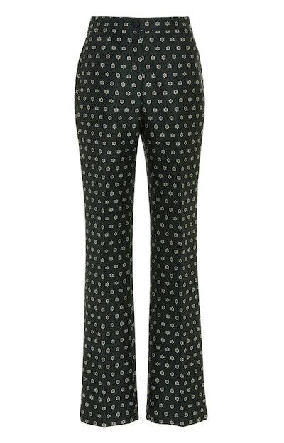 ALEXACHUNG Kick-Flare Tailored Jacquard Trouser