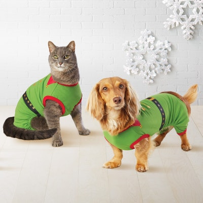 Pet Holiday Elf Pajamas - Wondershop™ Green
