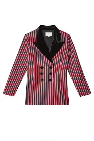 Toni – Two Stripe Double Breasted Blazer