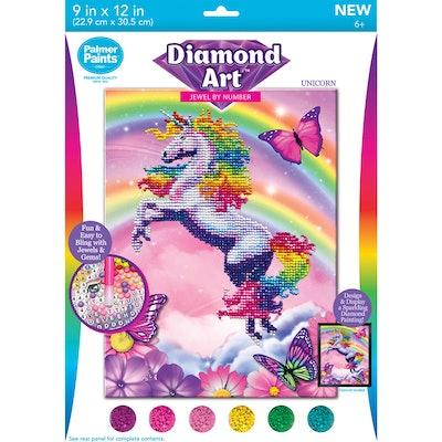 Diamond Art Unicorn 20pc Activity Kit