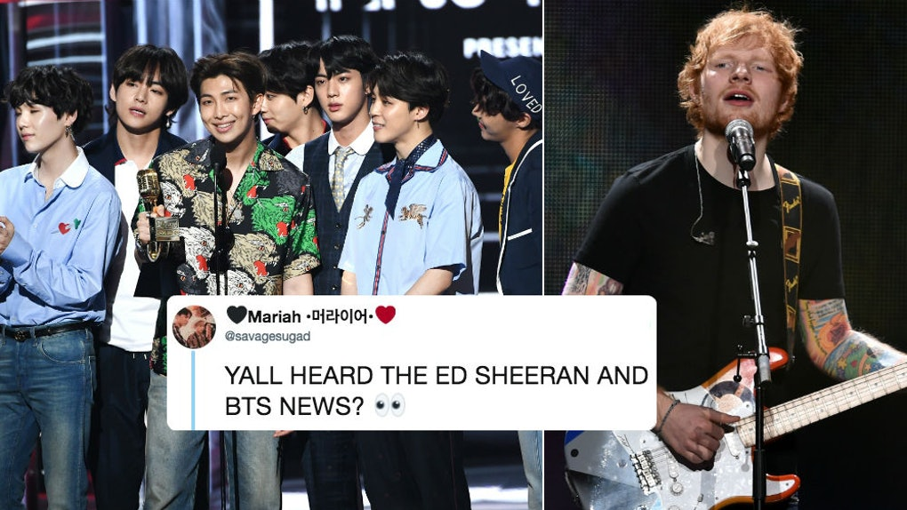 Will BTS & Ed Sheeran Collaborate On A Song? He Just Teased