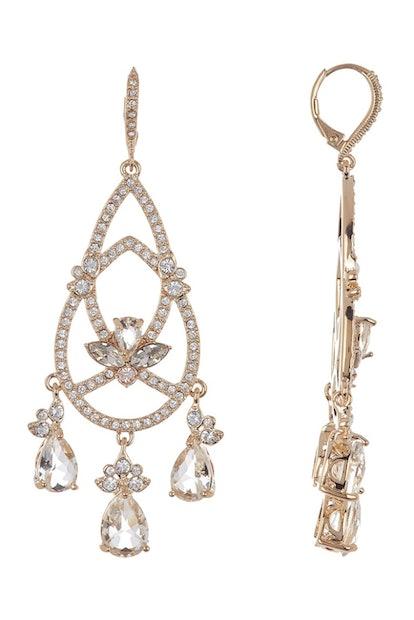 Jenny Packham Leverback Crystal Chandelier Earrings