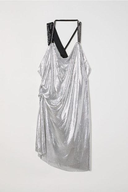 Draped Halterneck Dress