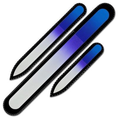 Mont Bleu Crystal Nail Files (Set Of 3)