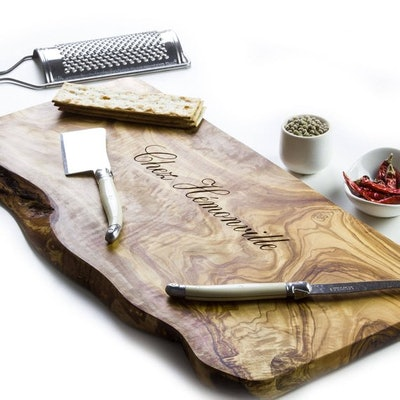 Rustic Flitch Personalized Rustic Olive Wood Chopping/Cutting/Cheese Board