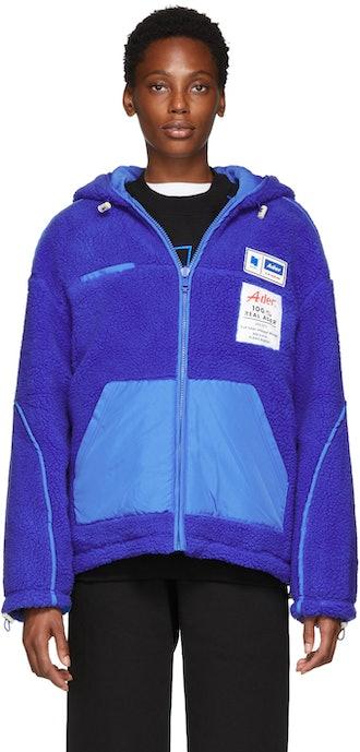 Blue Fleece Hoodie Jacket