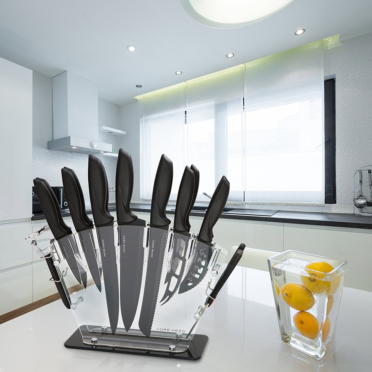 Home Hero Stainless Steel Knife Block Set