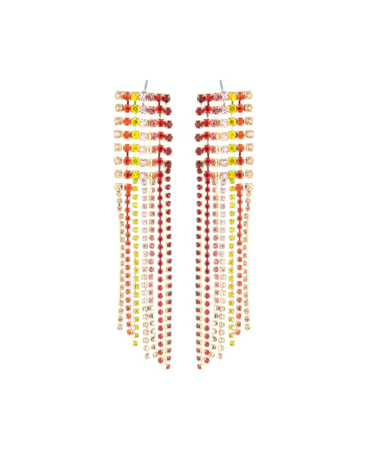 Lydell NYC Multicolor Crystal Chandelier Earrings