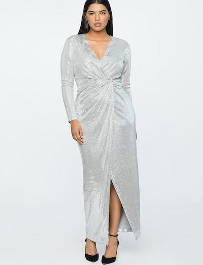 ELOQUII x Jason Wu Sequin Wrap Gown