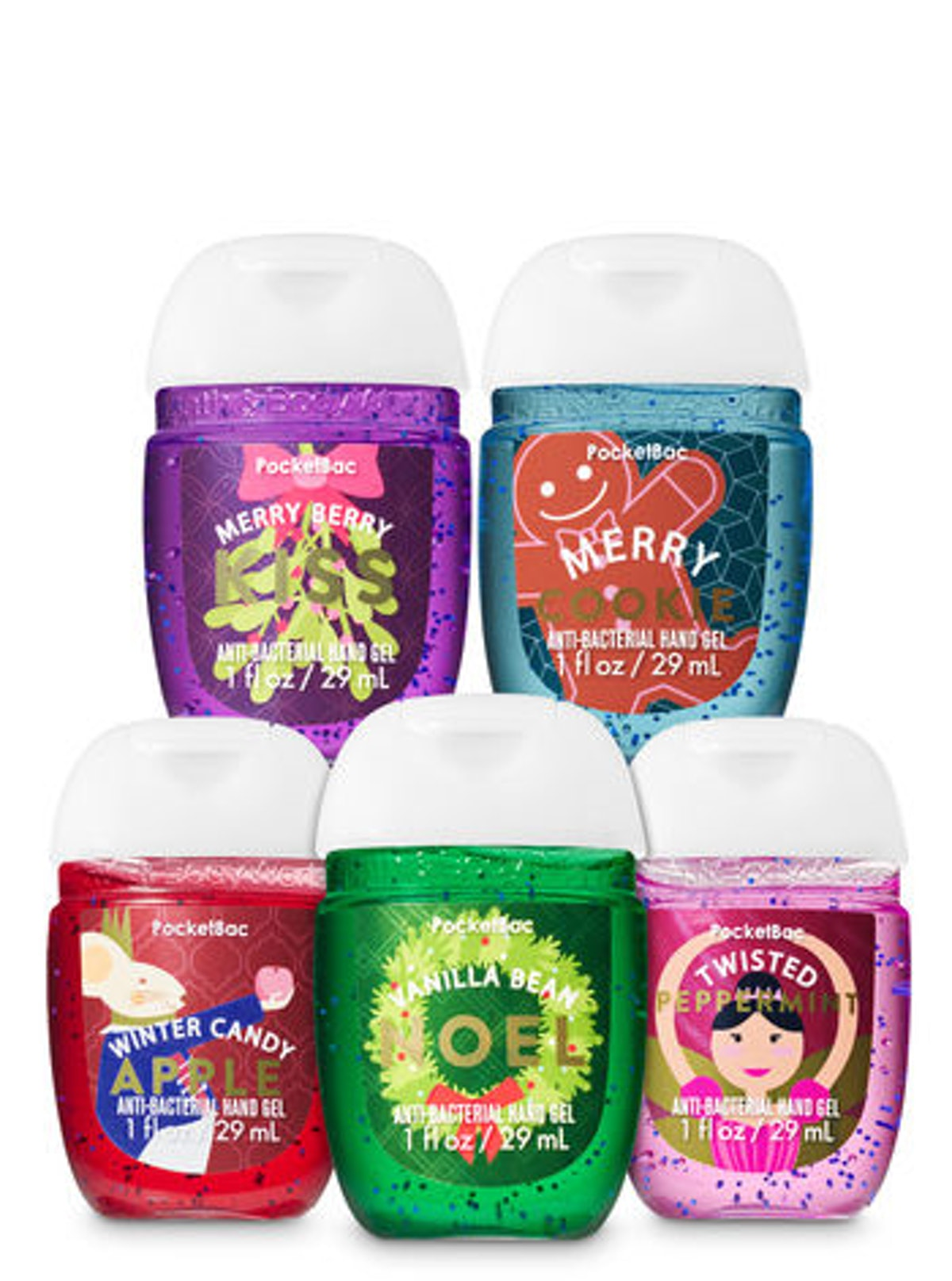 Holiday Favorites PocketBac Hand Sanitizer 5-Pack