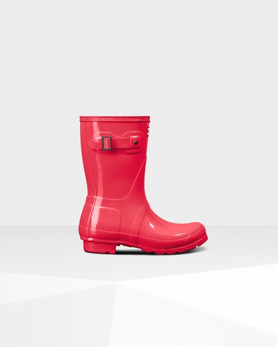 Women's Original Short Gloss Rain Boots: Hyper Pink
