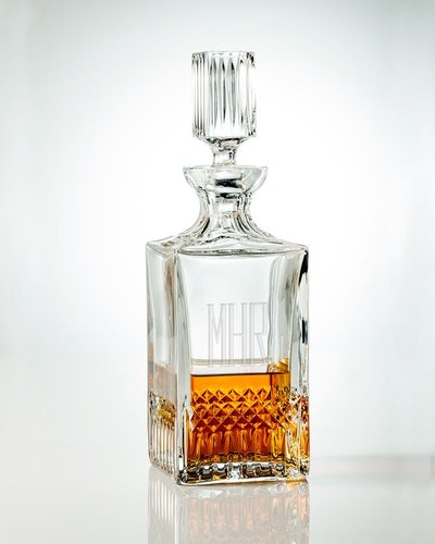 Clink Barware 30oz Monogram Whiskey Decanter