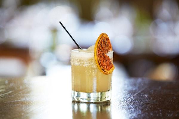 Chili's' $5 Hennessy's Harvest Margarita for November looks so festive.