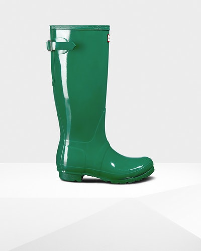 Women's Original Adjustable Gloss Rain Boots: Hyper Green