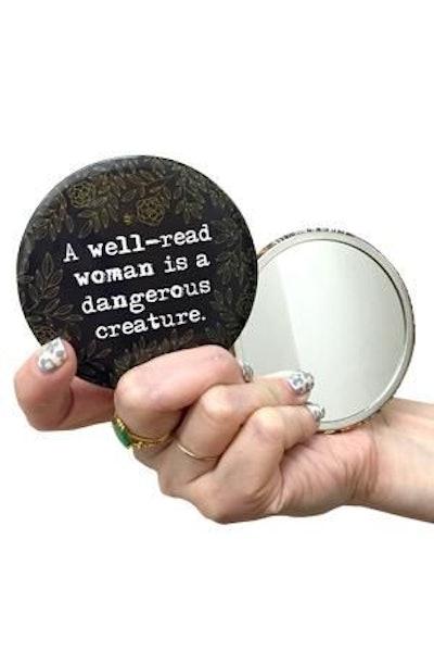 Pocket Mirror: Well Read Woman