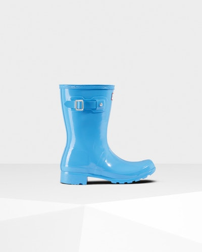 Women's Original Tour Short Gloss Rain Boots: Forget Me Not