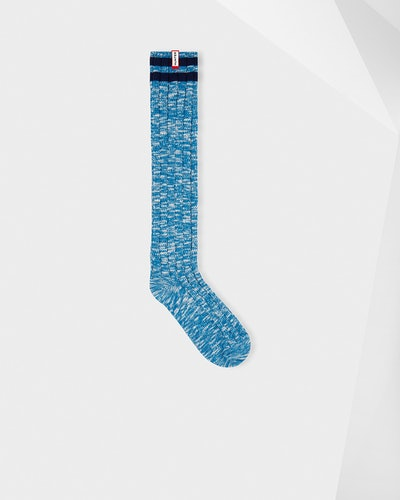 Unisex Original Mouline College Knitted Socks: Ocean Blue