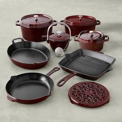 Staub Cast-Iron 12-Piece Cookware Set in Grenadine