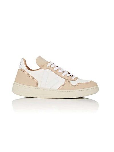 V-10 Slub-Weave & Leather Sneakers