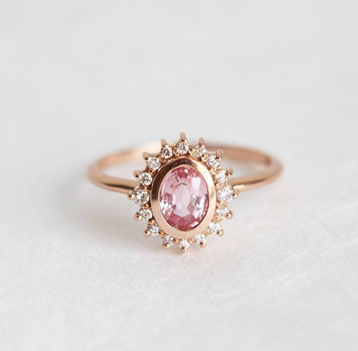 Sapphire Ring Diamond Ring