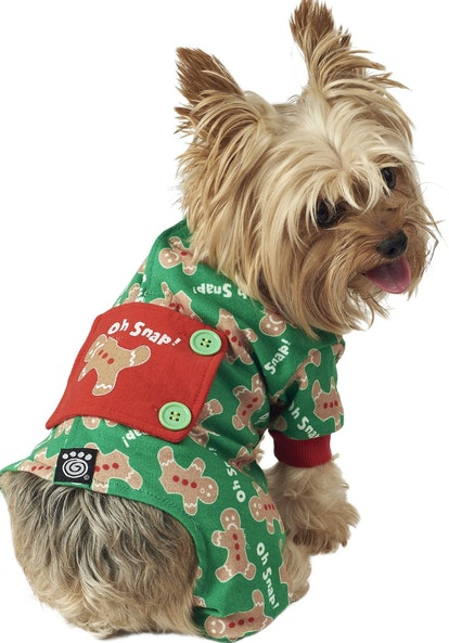 PetRageous Designs Oh Snap! Gingerbread Dog Pajamas
