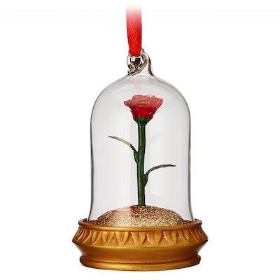 Enchanted Rose Light-Up Sketchbook Ornament