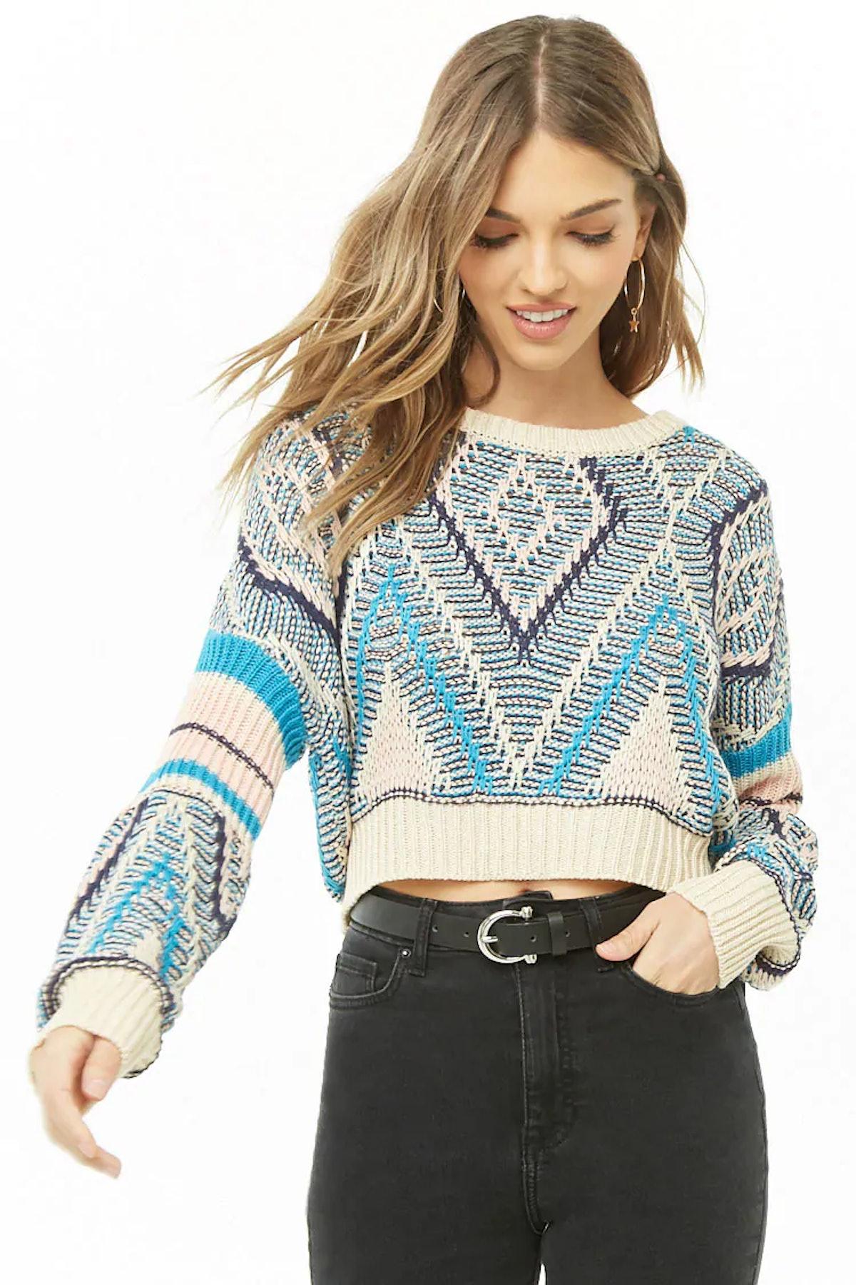 Geo Knit Sweater