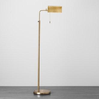 Brass Library Floor Lamp