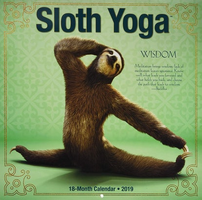 Sloth Yoga 2019 Wall Calendar