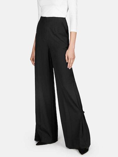 Wide Leg Button Pant