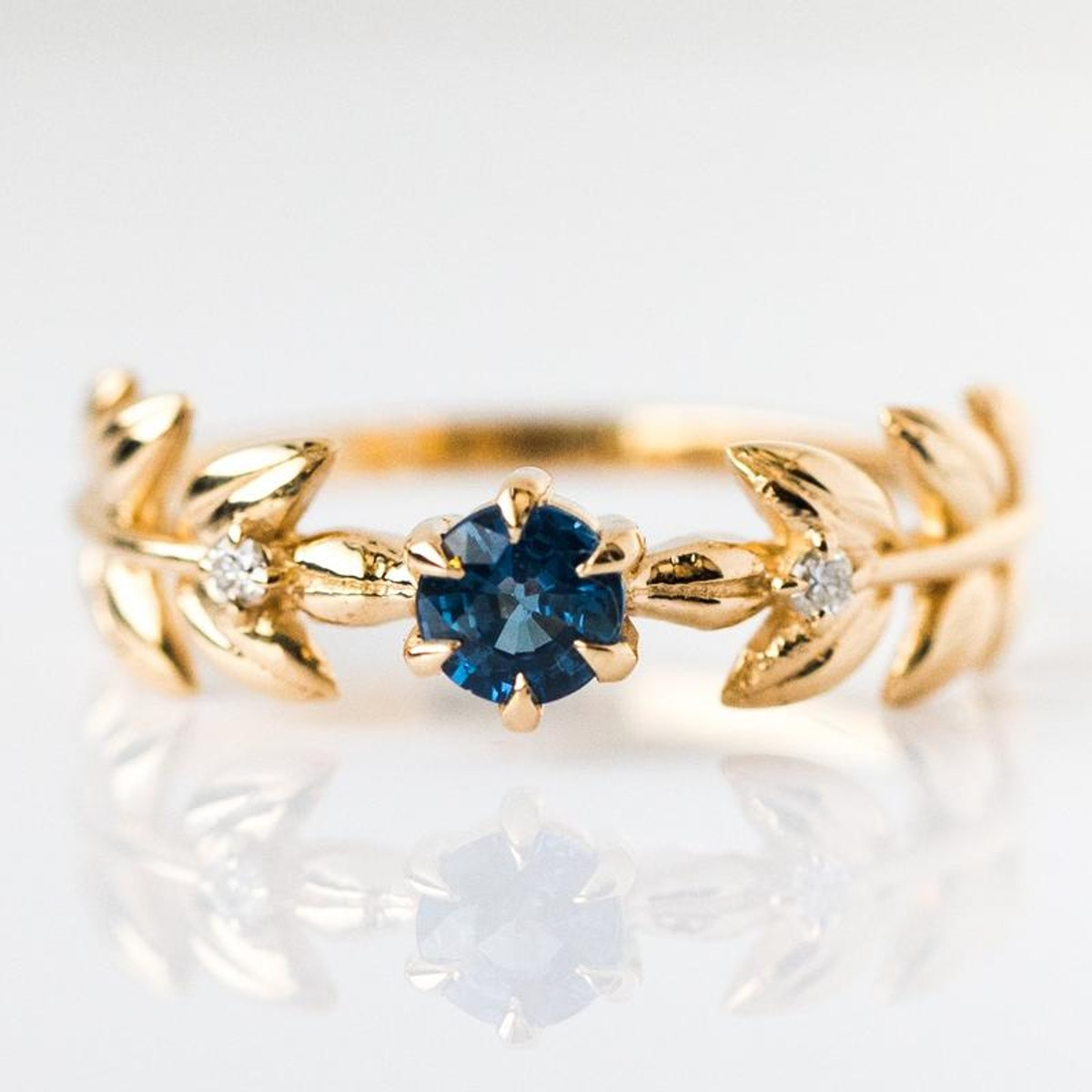Royal Baby Blue Sapphire Goddess Ring