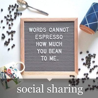 Felt Like Sharing Felt Letter Board