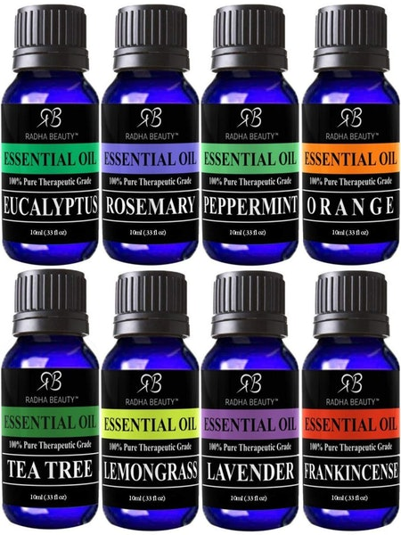 Radha Beauty Aromatherapy Essential Oils (Set of 8)