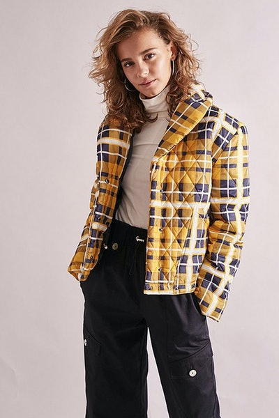 House of Sunny Quilted Tartan Jacket