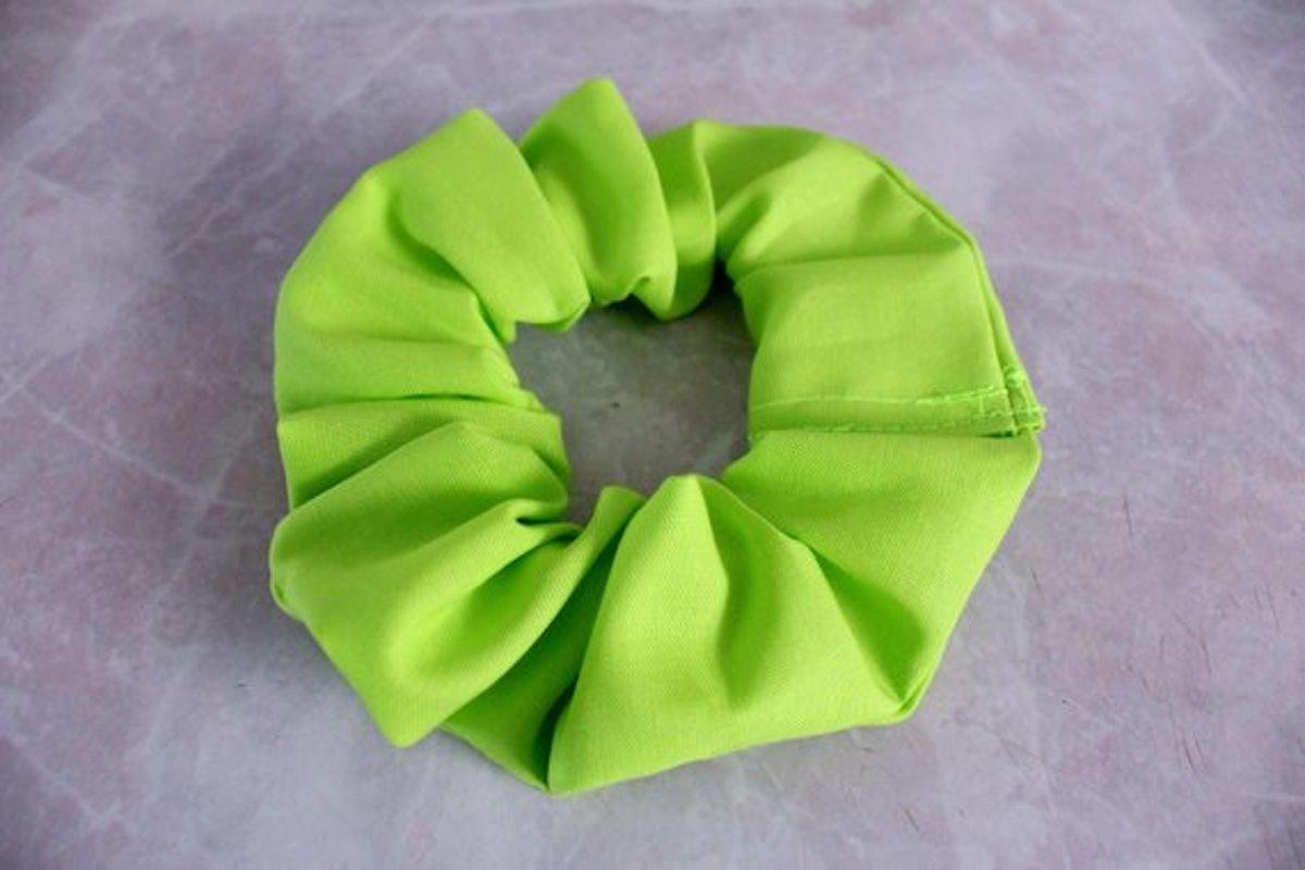 Lime Green Hair Scrunchie
