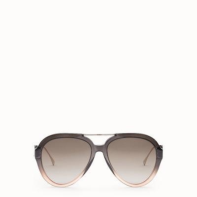 Tropical Shine Gray And Pink Sunglasses