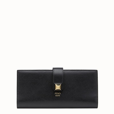Continental Wallet In Black Leather