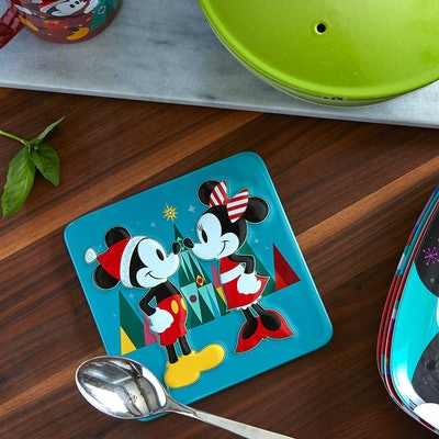 Mickey And Minnie Mouse Holiday Trivet