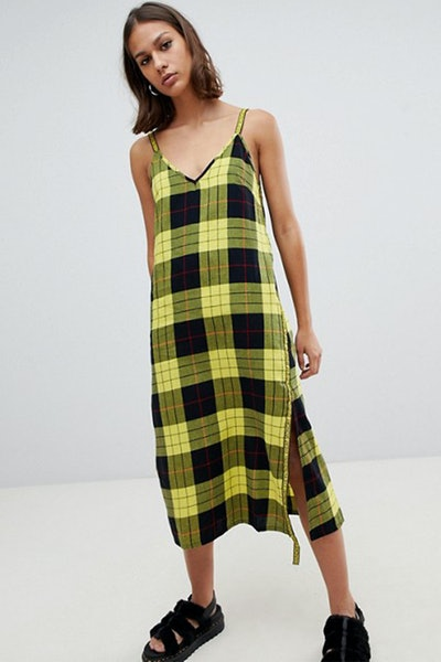 Cheap Monday Keep Tartan Wrap Slip Dress